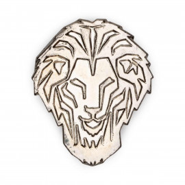 PIN LION ARGENTÉ BRILLANT