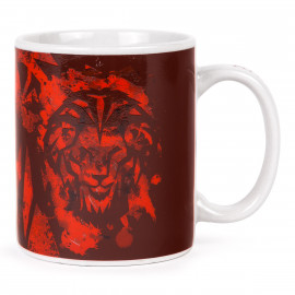 LION BACKGROUND MUG
