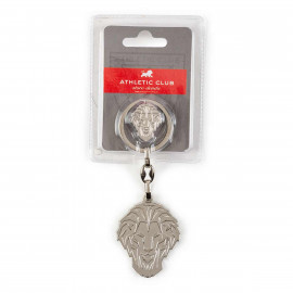 KEY-RING SILVER LION + BADGE