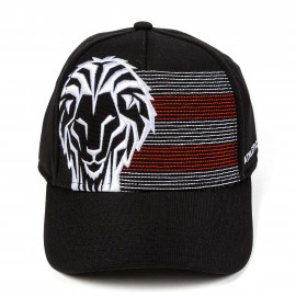 CHILD'S EMBROIDERED LION CAP