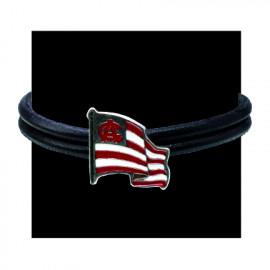 DOUBLE LEATHER BRACELET FLAG