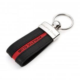 LETTER KEY-RING BLACK RED