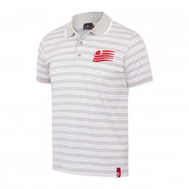 JUNIOR STRIPED SHORT SLEEVE POLO SHIRT FLAG