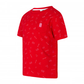 SHORT SLEEVE SHIRT RED PRINT