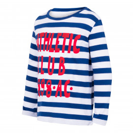 BABY LONG SLEEVE SHIRT NAVY BLUE GREY LETTER