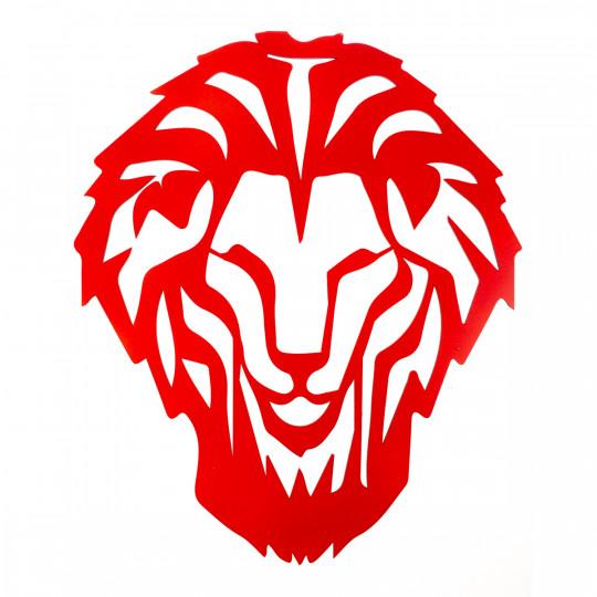 AUTOCOLLANT BOIS LION