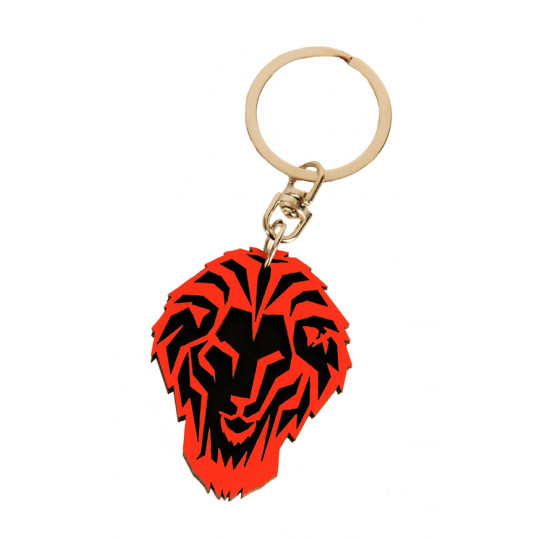 KEY-RING WOOD LION