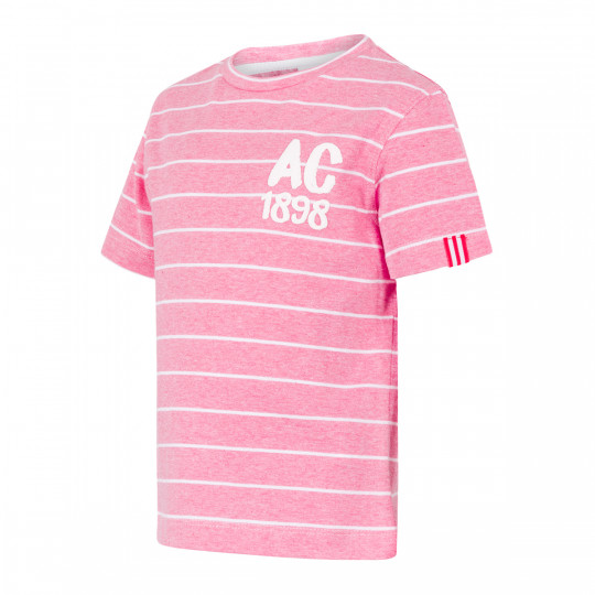 SHORT SLEEVE SHIRT PINK STRIPED